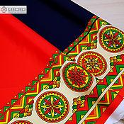 handmade. Livemaster - original item Fabric in Russian style Boretskaya painting. Handmade.