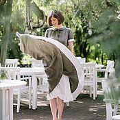 Одежда ручной работы. Ярмарка Мастеров - ручная работа Платье льняное «Тихий вечер». Handmade.