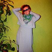 Одежда ручной работы. Ярмарка Мастеров - ручная работа Комплект двойка:Платье+пуловер в спортивном стиле. Handmade.