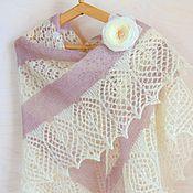 Аксессуары handmade. Livemaster - original item Knitted shawl, shawl from mohair and wool