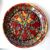 Посуда handmade. Livemaster - original item Helm of Awe - Ægishjálmur (red). Handmade.