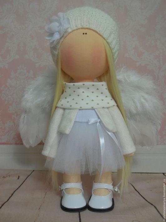 Коллекционные куклы ручной работы. Ярмарка Мастеров - ручная работа. Купить Angel. Handmade. Белый, интерьерная кукла, искусственные волосы
