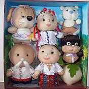 """Куклы и игрушки ручной работы. Ярмарка Мастеров - ручная работа Сказка """"Репка"""" из чулочных кукол. Развиваемся играя.. Handmade."""