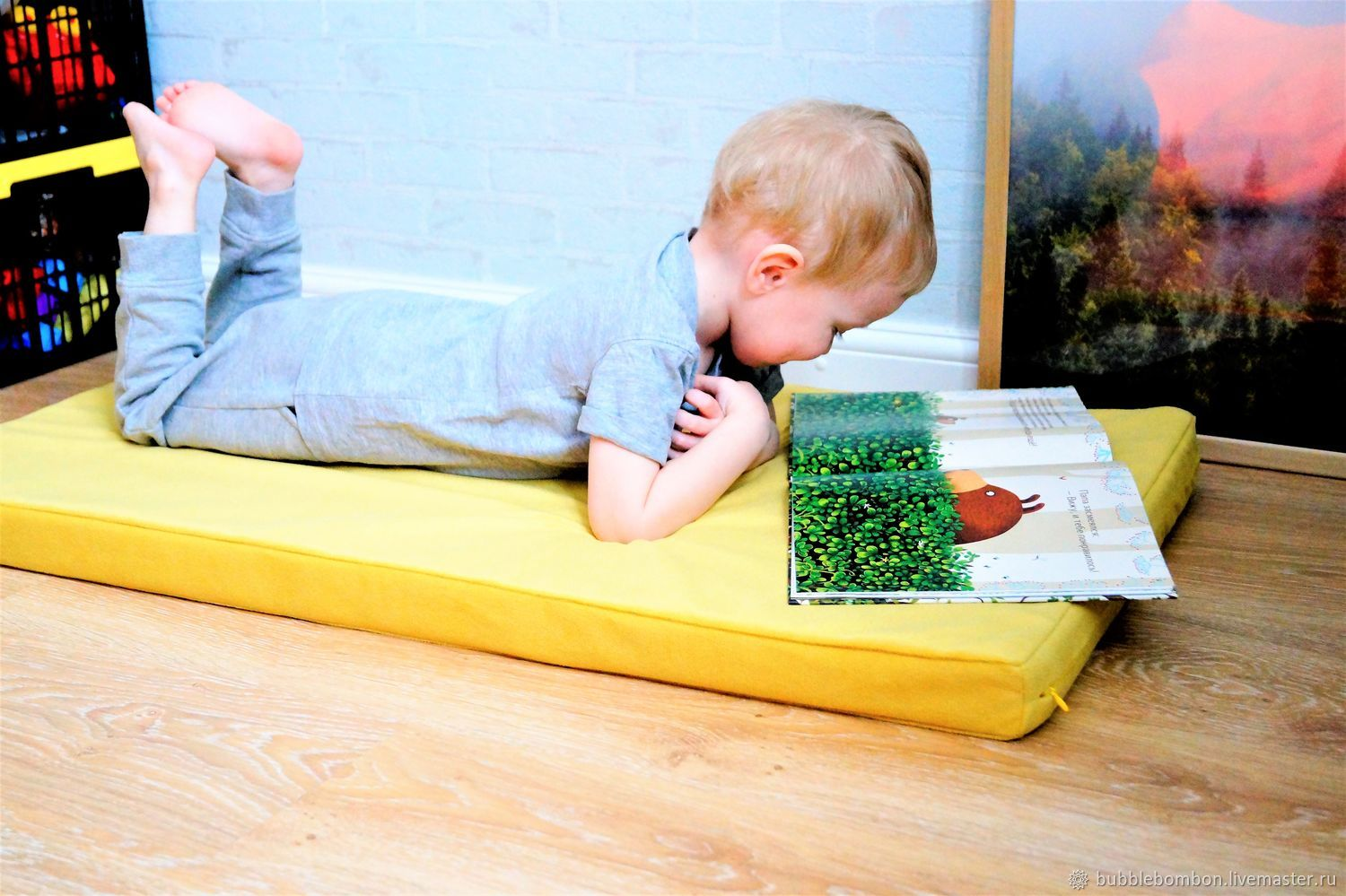 Game mattress-bed for child, Baby play mat, Krasnoarmejsk,  Фото №1