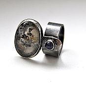 Украшения ручной работы. Ярмарка Мастеров - ручная работа Кольцо RAIN из серебра с хлоритовым кварцем и аметистом. Handmade.