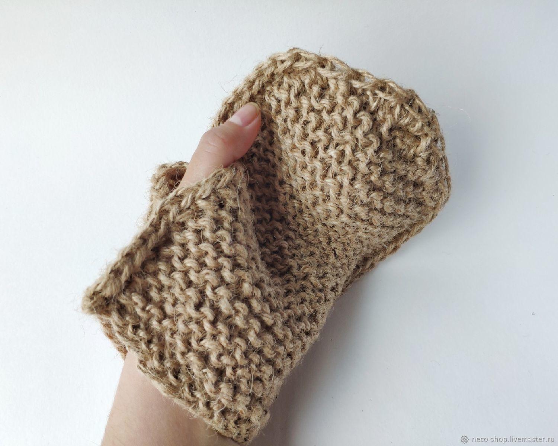 Натуральная мочалка рукавичка из 100% джута, Мочалки, Москва,  Фото №1