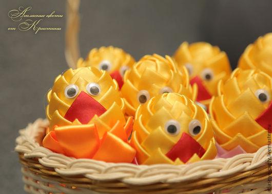 """Подарки на Пасху ручной работы. Ярмарка Мастеров - ручная работа. Купить Пасхальные яйца """"Цыплята"""". Handmade. Желтый, пасхальное яйцо"""