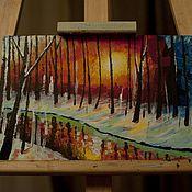 Картины и панно ручной работы. Ярмарка Мастеров - ручная работа Закат. Handmade.