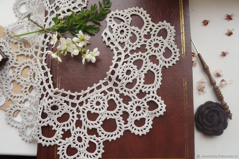 Openwork collar 'Royal' pearl gray, Collars, Stavropol,  Фото №1
