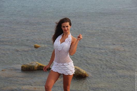 Пляжные платья ручной работы. Ярмарка Мастеров - ручная работа. Купить Пляжное платье Ариэль. Handmade. Белый, пляжная мода