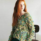 Одежда ручной работы. Ярмарка Мастеров - ручная работа Вязаный свитер букле. Handmade.