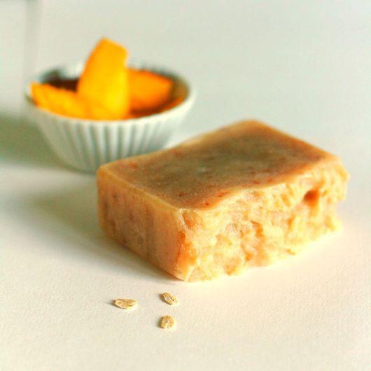 """Мыло ручной работы. Ярмарка Мастеров - ручная работа. Купить """"Сладкий плод"""" натуральное мыло с нуля.. Handmade. Желтый"""