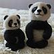 Игрушки животные, ручной работы. Ярмарка Мастеров - ручная работа. Купить забавные панды. Handmade. Черный, мишки, Валяние