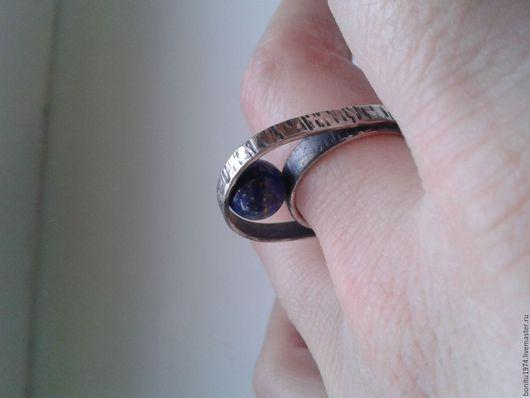 """Кольца ручной работы. Ярмарка Мастеров - ручная работа. Купить Кольцо серебряное """"Вокруг своей оси"""". Handmade. Тёмно-фиолетовый"""