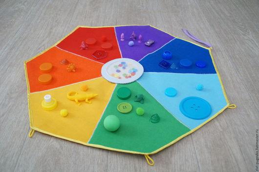 Развивающие игрушки ручной работы. Ярмарка Мастеров - ручная работа. Купить Развивающая игрушка для изучения основных цветов радуги. Handmade.