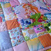 """Одеяла ручной работы. Ярмарка Мастеров - ручная работа Лоскутное одеяло """"Русалочка в розовом кружеве"""". Handmade."""