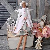 Куклы и игрушки ручной работы. Ярмарка Мастеров - ручная работа ангел тильда на коньках. Handmade.