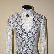 Одежда handmade. Livemaster - original item Lace turtleneck with frills. Handmade.