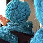 Шапки ручной работы. Ярмарка Мастеров - ручная работа Шапка вязаная зимняя. Handmade.