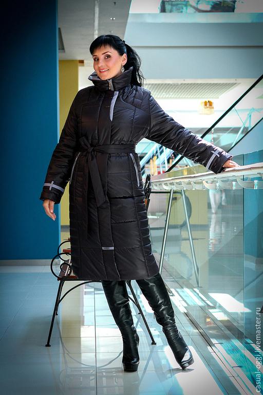 Верхняя одежда ручной работы. Ярмарка Мастеров - ручная работа. Купить Женское зимнее пальто-пуховик.. Handmade. Разноцветный, пуховик