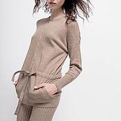 Одежда handmade. Livemaster - original item Cashmere the cardigan knitted Wild. Handmade.