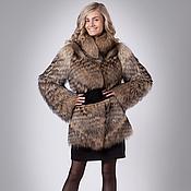 Одежда handmade. Livemaster - original item Fur coat Raccoon Diagonal. Handmade.