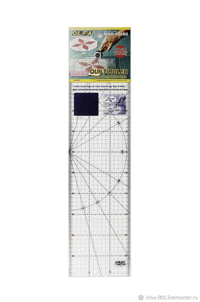 Линейка Олфа 15х60см для пэчворка, Инструменты для шитья, Люберцы,  Фото №1
