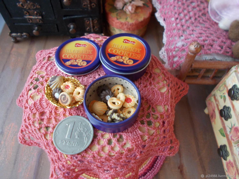 Кукольная еда, коробочки с печеньками, Кукольная еда, Псков,  Фото №1