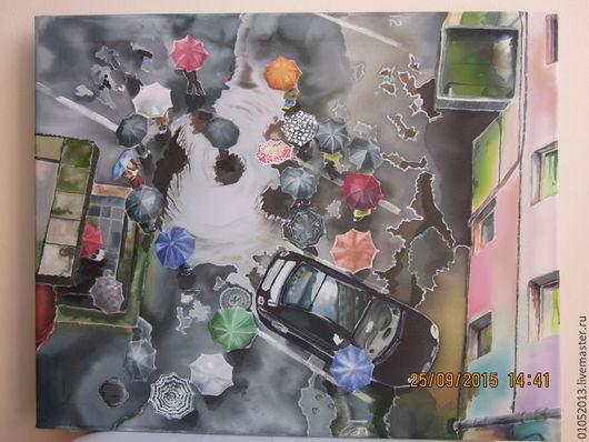 Город ручной работы. Ярмарка Мастеров - ручная работа. Купить Собрание. Handmade. Разноцветный, зонты, вид с верху, плесень