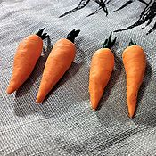 Кукольная еда ручной работы. Ярмарка Мастеров - ручная работа Кукольная еда: Морковь из полимерной глины. Handmade.
