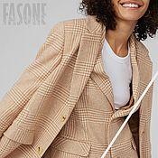 Одежда handmade. Livemaster - original item coat: Women`s wool coat in a cage