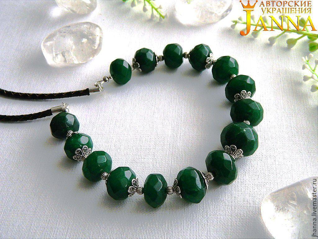 Emerald necklaces 'emerald forest', Necklace, Volgograd,  Фото №1