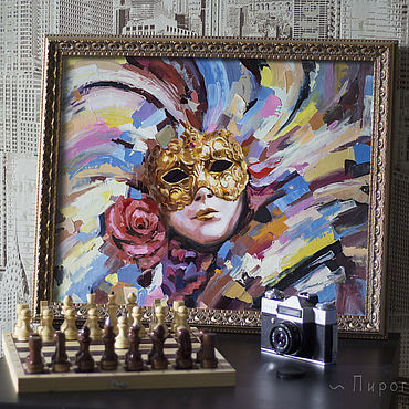 Pictures and panels handmade. Livemaster - original item Venetian mask. . Buy a painting with a mask. mask. Handmade.