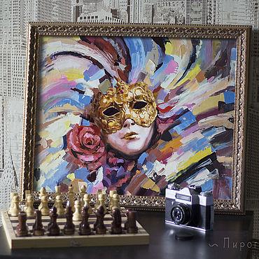 Картины и панно ручной работы. Ярмарка Мастеров - ручная работа Венецианская маска. . Купить картину с маской. маска. Handmade.