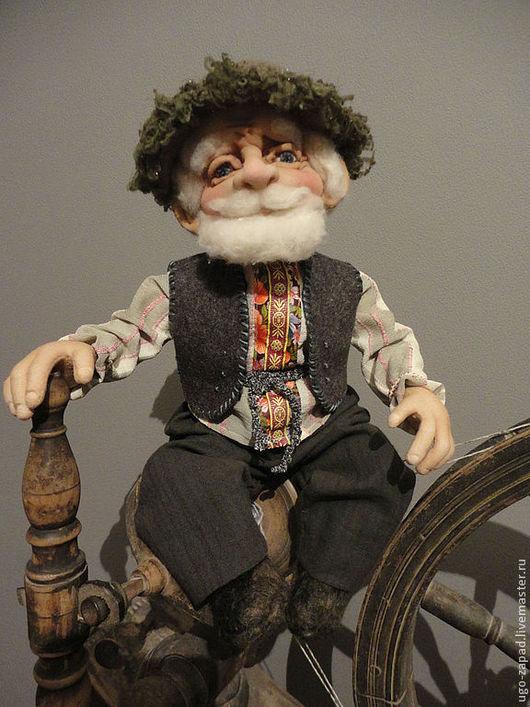 Коллекционные куклы ручной работы. Ярмарка Мастеров - ручная работа. Купить Домовой на прялке. Handmade. Домовой, кукла из капрона, шерсть