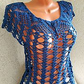 Tops handmade. Livemaster - original item Top openwork