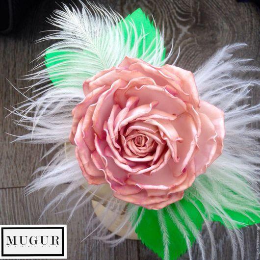 Диадемы, обручи ручной работы. Ярмарка Мастеров - ручная работа. Купить Ободок с розой Розовые сны. Handmade. Розовый