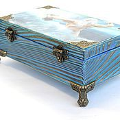 Для дома и интерьера handmade. Livemaster - original item Large box for storing documents decoupage bride Poseidon. Handmade.