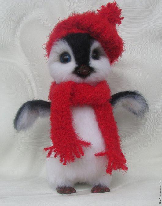 Игрушки животные, ручной работы. Ярмарка Мастеров - ручная работа. Купить Пингвин Шуня. Handmade. Чёрно-белый, шерсть 100%