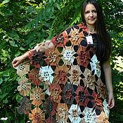 Аксессуары handmade. Livemaster - original item Stole crochet melange bulk flowers. Handmade.