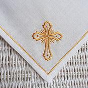 Swipe handmade. Livemaster - original item Easter Napkin with Embroidered