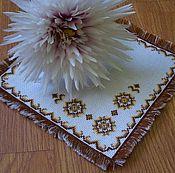 Для дома и интерьера ручной работы. Ярмарка Мастеров - ручная работа Салфетка вышитая. Handmade.