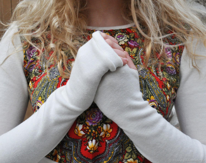580ae8c3f8a Платья ручной работы. Ярмарка Мастеров - ручная работа. Купить Короткое  молочное тёплое платье со ...