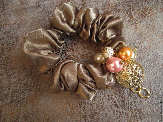 """Заколки ручной работы. Ярмарка Мастеров - ручная работа. Купить резинка для волос """"Итальянское золото"""". Handmade. Оливковый, резинки, хаки"""