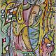 Абстракция ручной работы. Ярмарка Мастеров - ручная работа. Купить Невидимая связь. Handmade. Разноцветный, абстракция, абстрактная картина