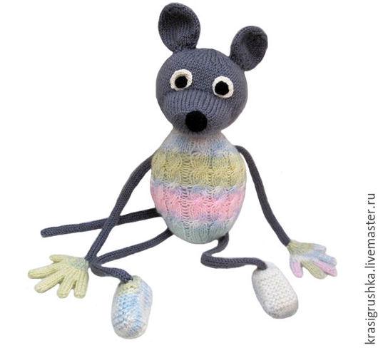 Игрушки животные, ручной работы. Ярмарка Мастеров - ручная работа. Купить Мышка. Handmade. Серый, мышка из шерсти, игрушка в подарок