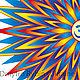 Заказать Энергетическая мандала со знаком Аум / Ом для оформления помещений. Light (givopis-art). Ярмарка Мастеров. . Аксессуары для кукол и игрушек Фото №3