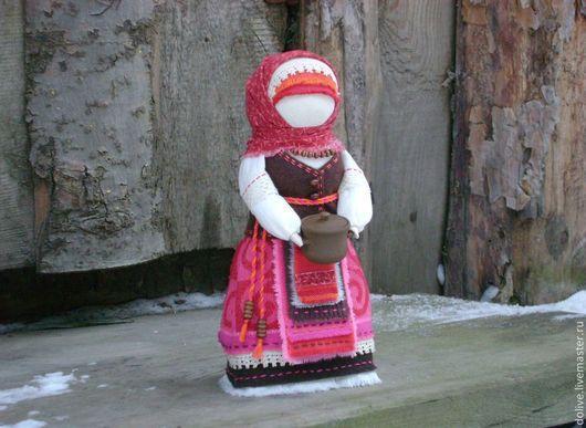 """Народные куклы ручной работы. Ярмарка Мастеров - ручная работа. Купить кукла Берегиня дома """"Волшебный горшочек"""". Handmade. Фуксия"""