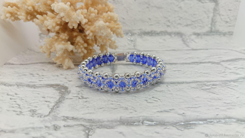 Bracelet made of beads: blue Blueberries and beads, Bead bracelet, Podolsk,  Фото №1