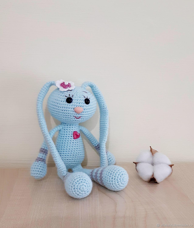 Зайка вязаная, Мягкие игрушки, Староминская,  Фото №1